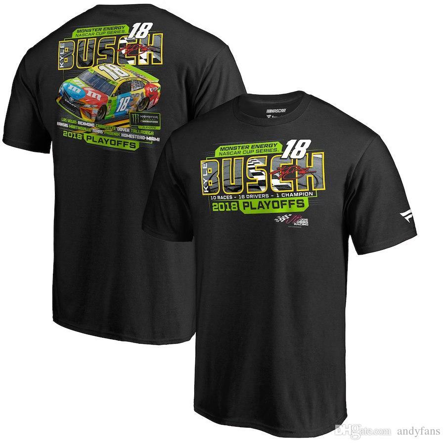 Kevin Harvick Verfolgung Elliott Kyle Busch Clint Bowyer Martin Truex Jr. Joey Logano Austin Dillon 2018 NASCAR Cup Serie Playoffs T-Shirt