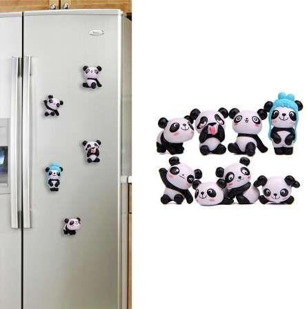 8 unids Panda Lindo Imán Etiqueta Engomada Del Refrigerador Decoración de La Habitación Imanes Del Refrigerador Imán de Nevera de Recuerdos Niños Regalo de Cumpleaños