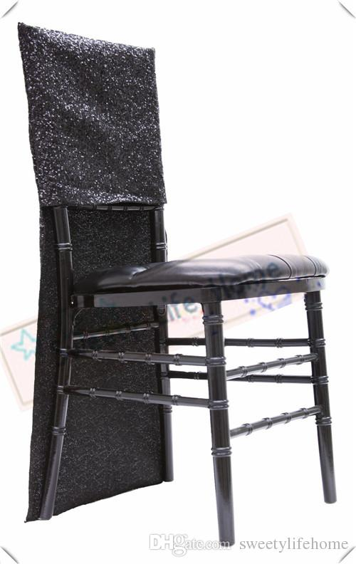 New Products Sequin chiavari chair covers/Black Glitz Banquet chair cover/seats for party Events outdoor chairs decorations