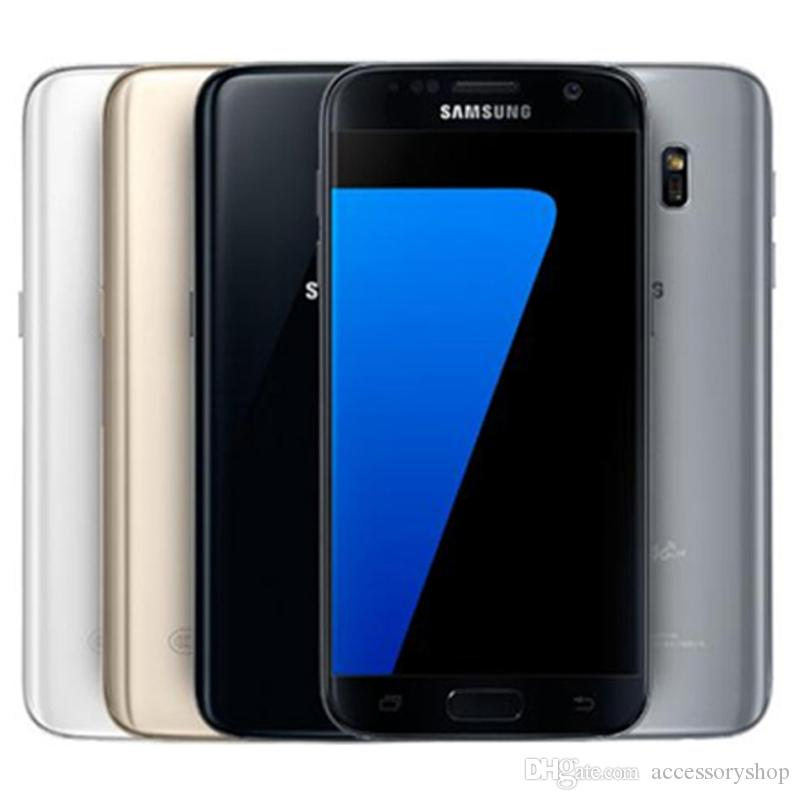 تم تجديده الأصلي سامسونج غالاكسي S7 G930F G930A G930T G930V G930P 5.1 بوصة رباعية النواة 4GB RAM 32GB ROM 12MP 4G LTE مقفلة الهاتف DHL 1PCS