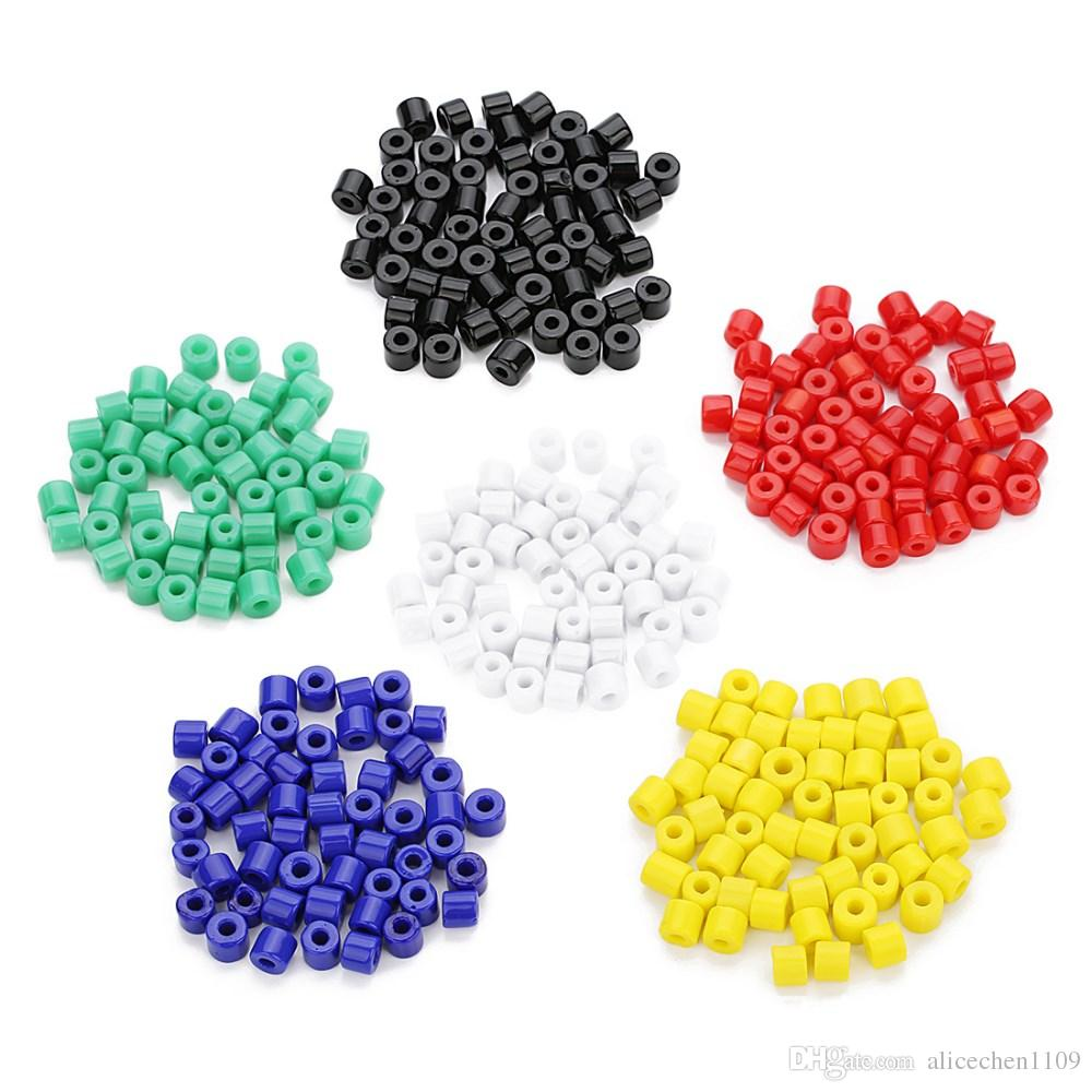 40gram/lot(about80pcs) Loose Beads For DIY Home Made Bracelet Glass Beads Jewelry Accessories With Diameter 7mm*Hole Dimater 2.8mm Colored