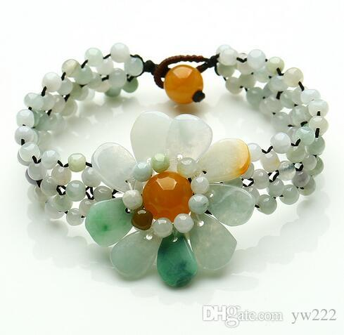 Jade Lion Carved Bead Bracelet Diy Handmade Beaded,Woven Jewelry Accessories With Bead Accessories,Loose Beads Handmade Making