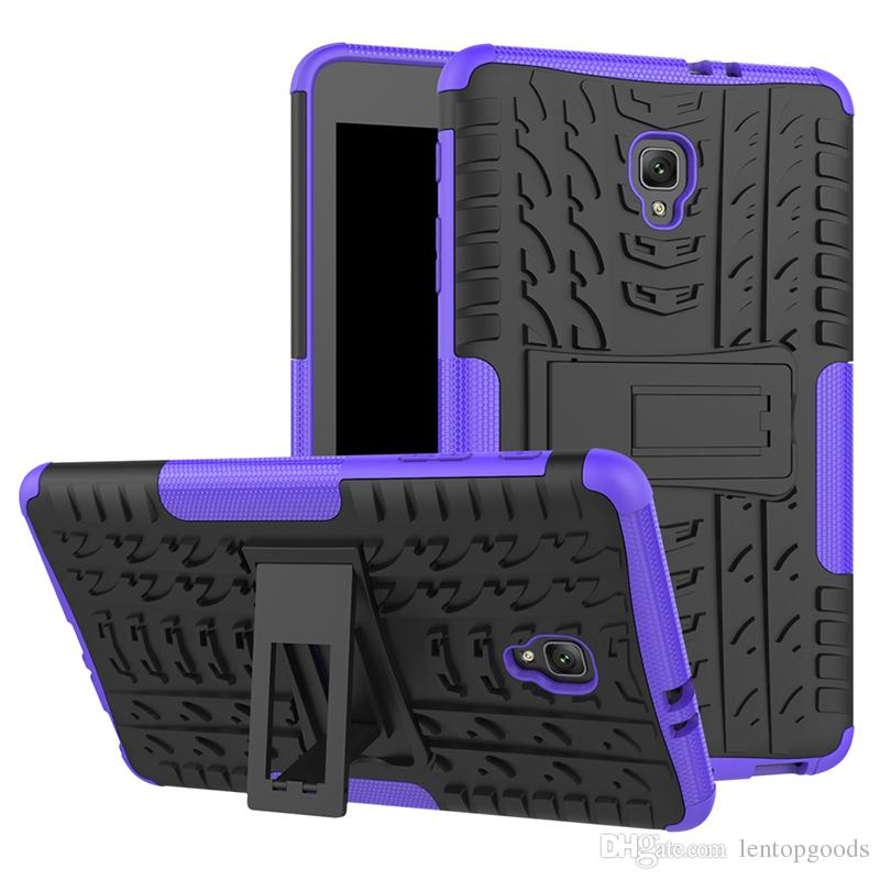Shockproof TPU + Silicone Case with Kickstand for Samsung Galaxy Tab A 8.0 T380 T385 T387 T377 T710 T715 Tablet