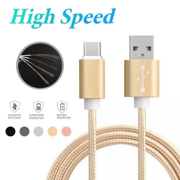 الإسكان المعدني مزين كابل USB مايكرو 2A دائم عالية السرعة شحن USB نوع C كابل C مع 10000 Bend Lifespan للهاتف الذكي Android