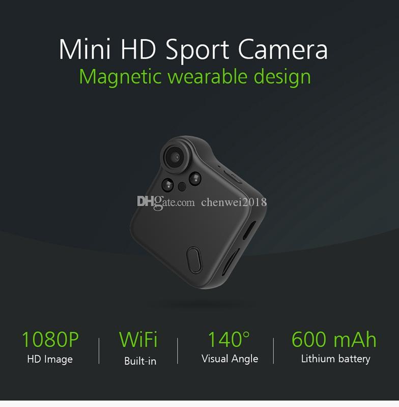 C1s WIFI P2P IP Mini Camera Full HD 1080P Infrared Night Version MINI DV DVR with Magnetic Clip Wireless Wifi remote monitoring Camera