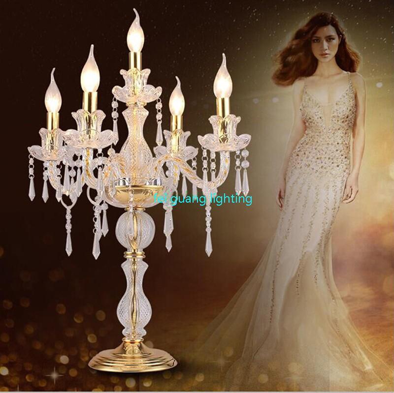 LED vela decoraciones de mesa vela lámpara de mesa candelabro de cristal lámparas gran restaurante comedor bar lámparas de mesa dormitorio ZT0011 #