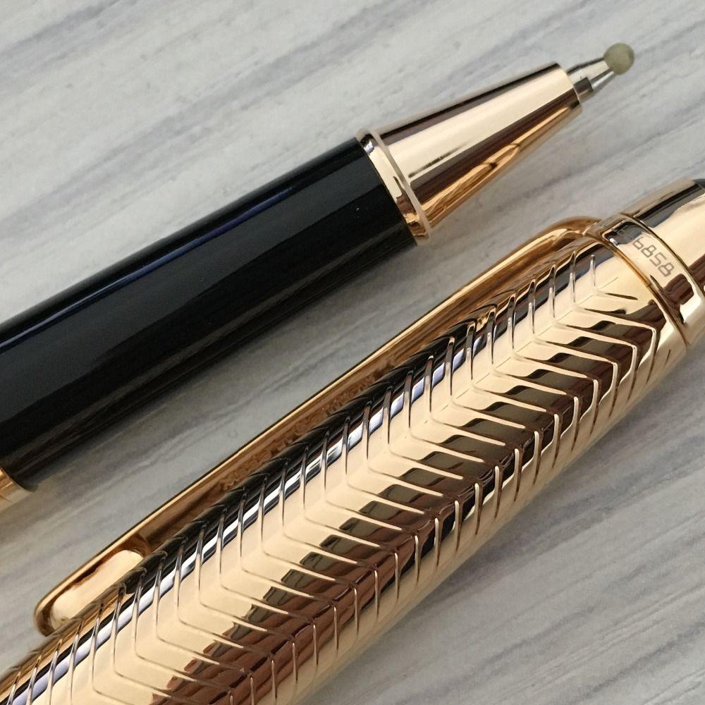 Stylo bille Classique Meister Scrittura a penna superficie d'onda dorata scuola cancelleria per ufficio di marca regalo d'affari scrittura penne di ricarica MB