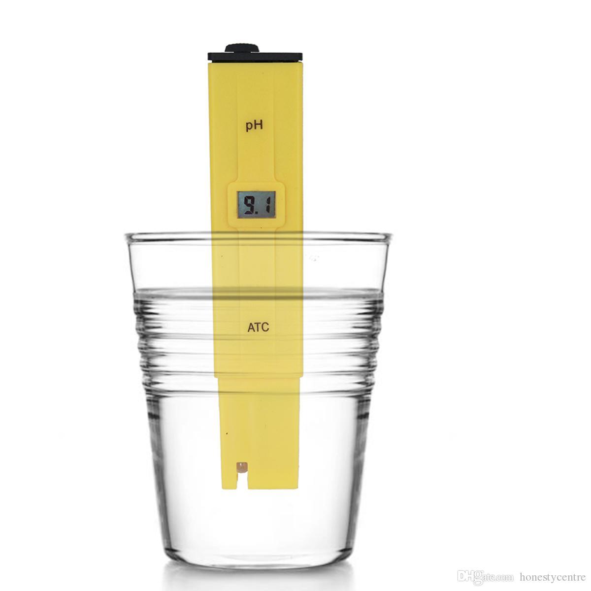 10 шт. / Лот Отличный карманный анализатор тип цифровой дисплей рН-метр плавательный бассейн Тестер качества воды Тестирование кислотности