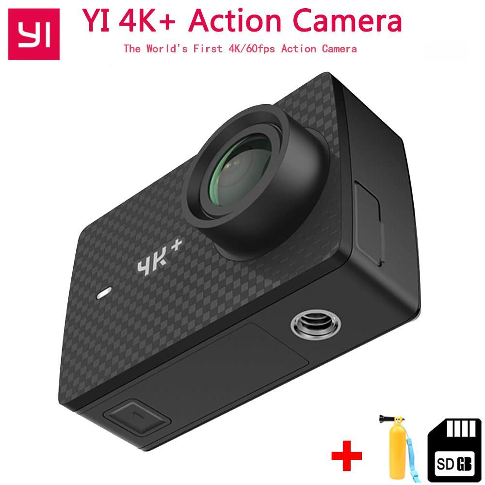 """الجملة YI 4K + (زائد) عمل الكاميرا الطبعة الدولية أول 4K / 60fps Amba H2 SOC Cortex-A53 IMX377 12MP CMOS 2.2 """"LDC RAM WIFI"""