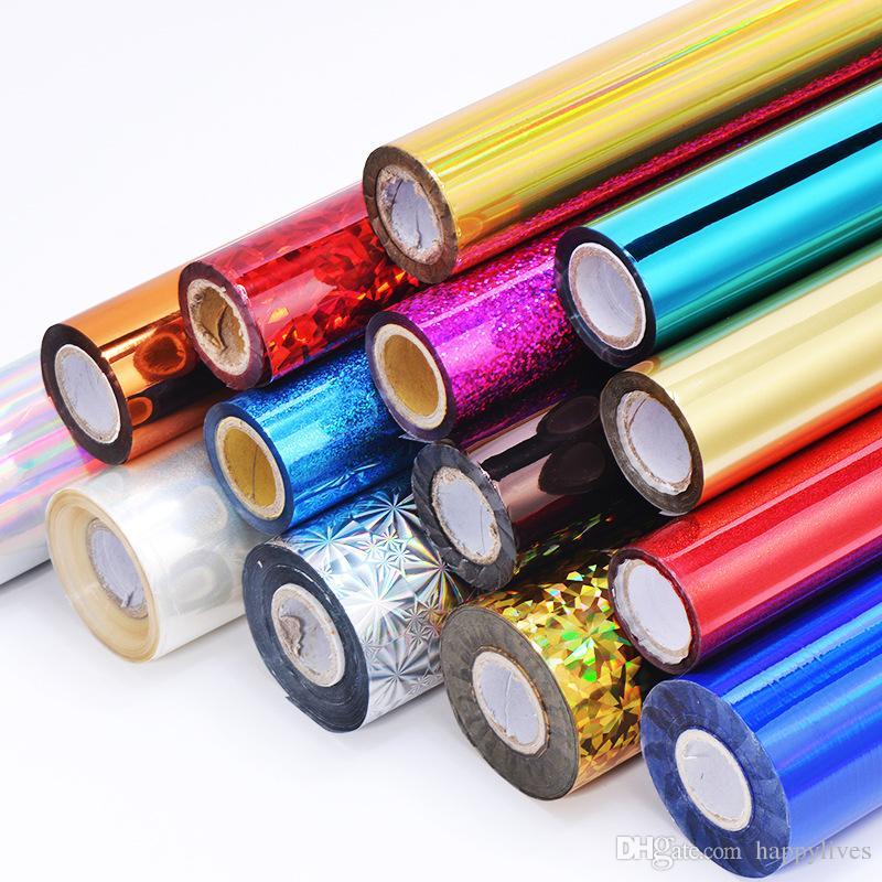 Papel de aluminio dorado Plástico Oro y Plata Papel de aluminio láser Estampación en caliente Papel Transferencia de calor Color de impresión