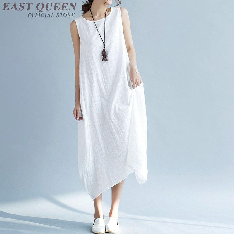 46c7d82e489ed5 2019 Dress Linen Ladies Linen Clothing Women Casual Sundress AA3303 Y From  Whitecloth, $38.84 | DHgate.Com
