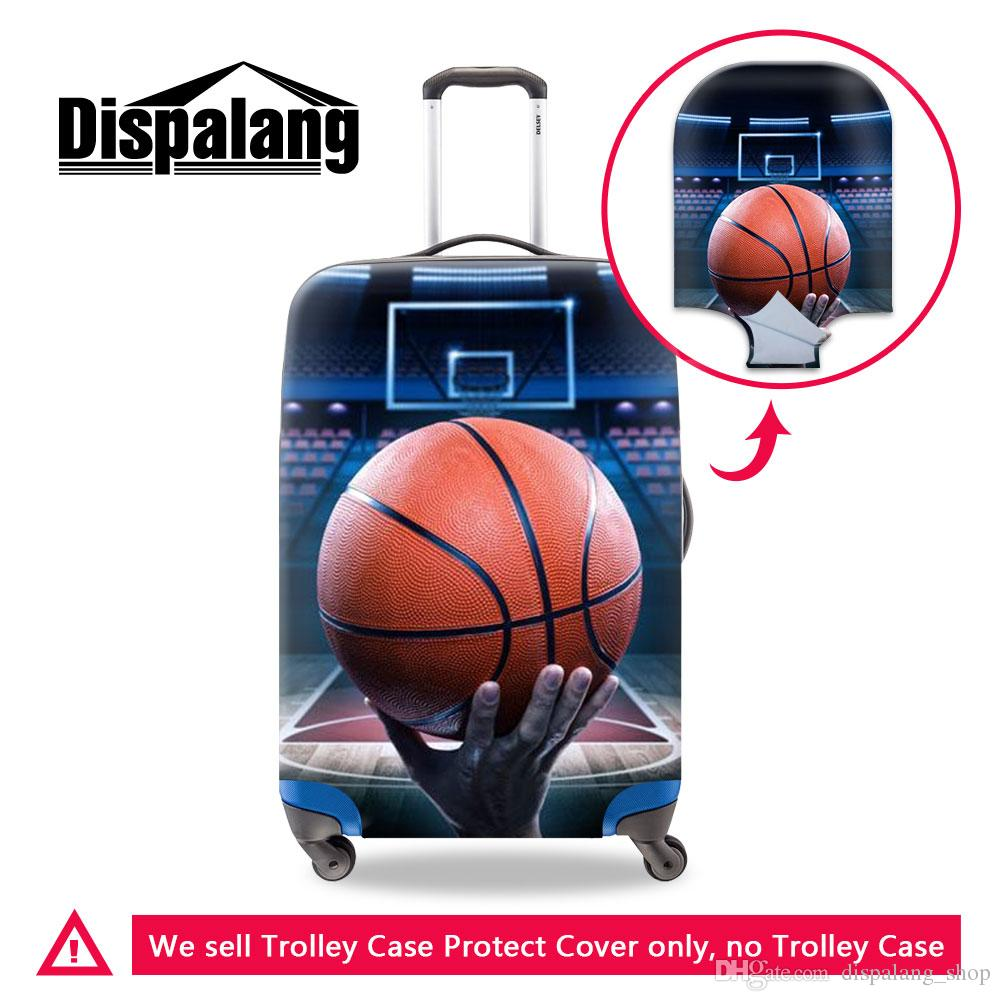 pretty luggage covers for travelling print basketball pattern on suitcase cover newest travel bags accessories coolest luggage case covers