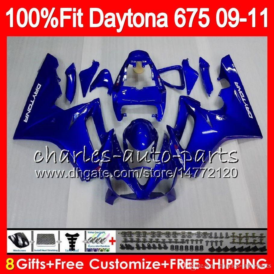 Einspritzung für Triumph Daytona 675 09 10 11 12 Karosserie 107HM.0 Daytona-675 Daytona675 Daytona 675 2009 2010 2011 2012 Verkleidung Glänzend blau