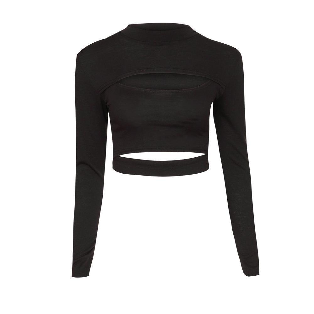 Europäische und amerikanische Modejacke sexy Rundhalsausschnitt ausgehöhlt Designjacke ZC2832