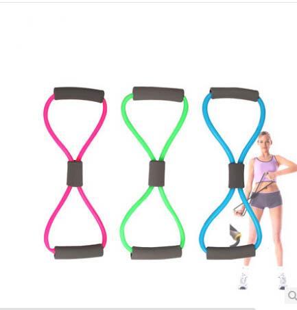 Bandas de treinamento de resistência tubo Workout Exercício para Yoga 8 Tipo Body Building Fitness Equipment Tool