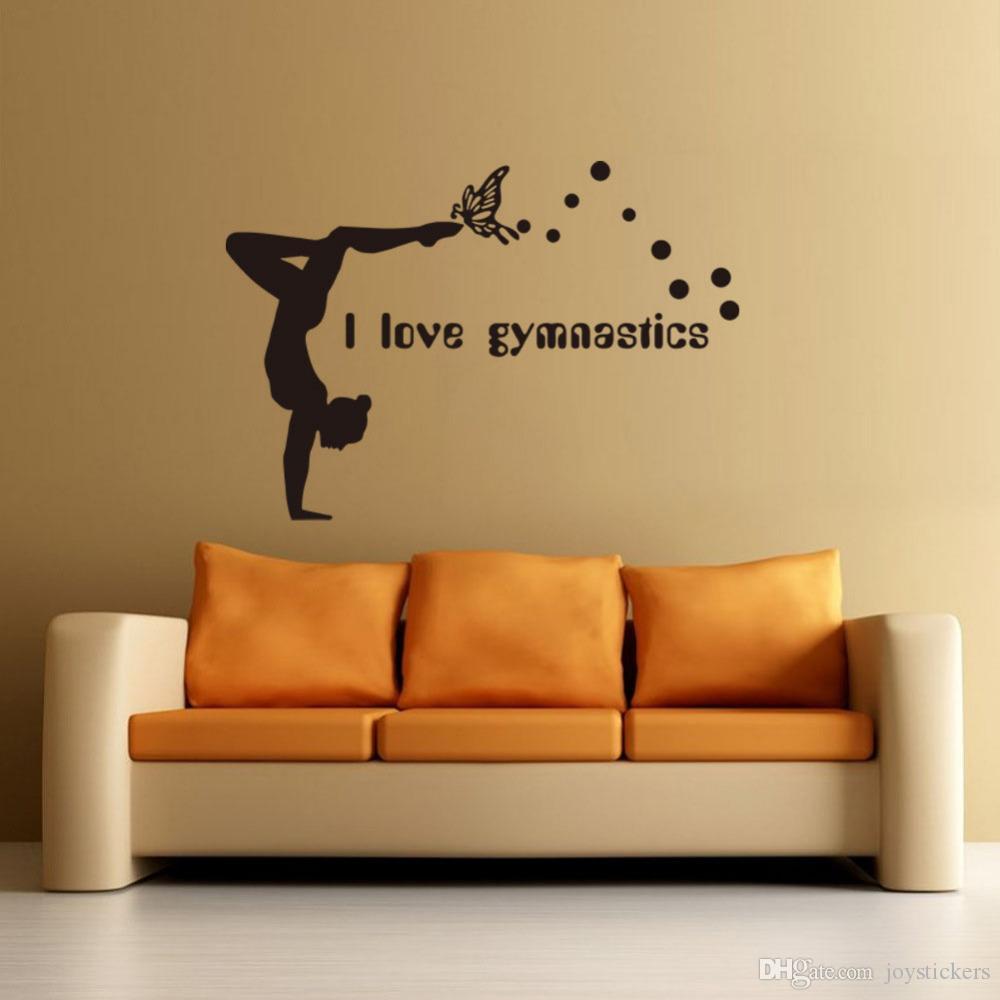 Decorazioni Camera Da Letto acquista i love gymnastics wall stickers danza ragazza sfondi decorativi  soggiorno decorazione camera da letto art decalcomanie switch sticker a  18,77