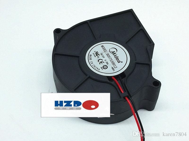 Midea bds7530m12 7530 12V 0.15A Ultra-tyst fläktturbin centrifugal fläkt B9733-12HB 9733