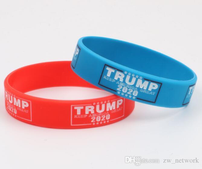 Dhl 500 قطع ترامب 2020 الانتخابات سوار إبقاء أمريكا كبيرة سيليكون الاسوره أساور الأحمر الأزرق أنصار ترامب الأساور