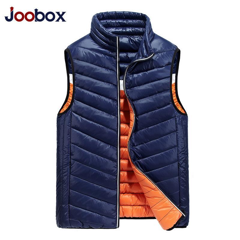 2018 Nuevo chaleco de invierno de los hombres Ultra Light alta calidad Duck Down Chaleco chaleco delgado chaqueta sin mangas negro Puls XXXL