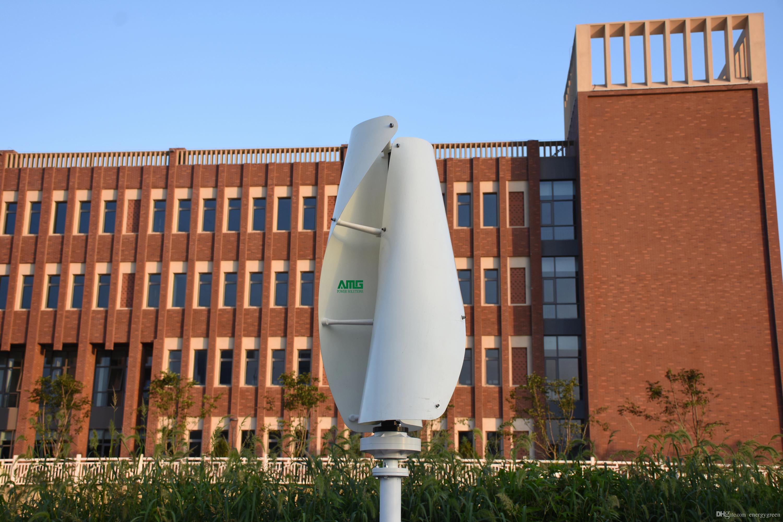 200W 12V / 24V Вертикальная ось Генератор энергии ветра Генератор VAWT Низкие обороты Магнитный генератор для лодки / Мэн / уличный свет / домашнего использования
