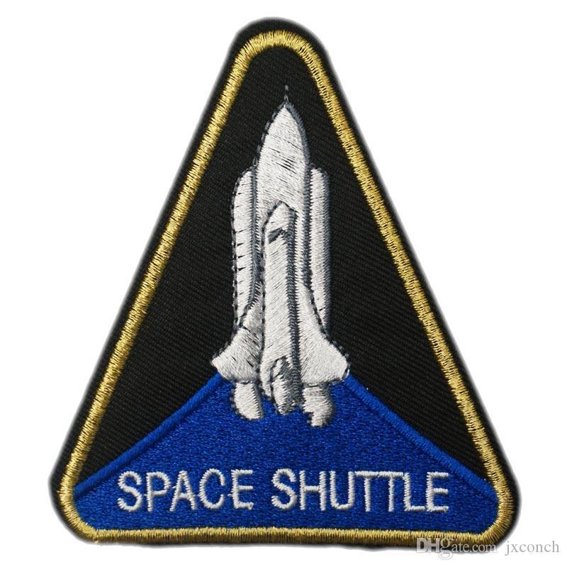 스페이스 셔틀 NASA 크루 유니폼 Custume Cosplay 수 놓은 로고 Iron on Patch Emo Goth 펑크 Rockabilly 사용자 지정 패치