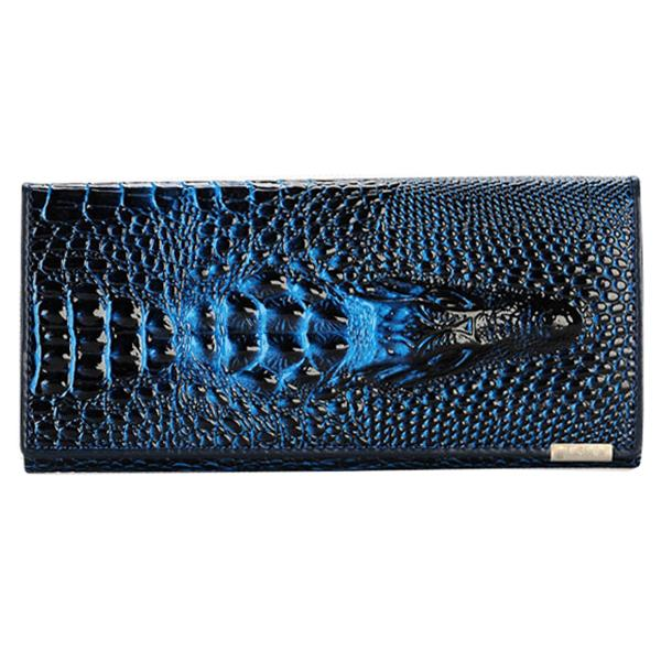 TFTP 2018 HOT Women Wallet Female Coin Purses Holders PU Leather 3D Embossing Alligator Ladies Crocodile Long Clutch Wallets