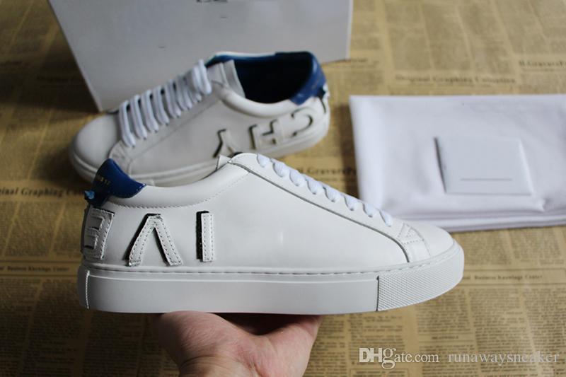 Nueva uxury low leather sneaker man mejores zapatos de diseño cuero real 3 colores Suela de goma marca casual descuento moda mujer zapatos a la venta