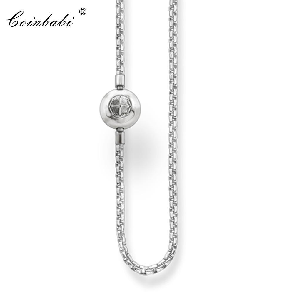 Collana a catena in argento sterling 925 con chiusura a scatto per donna regalo da uomo in stile Thomas Fit Ts Karma Diy