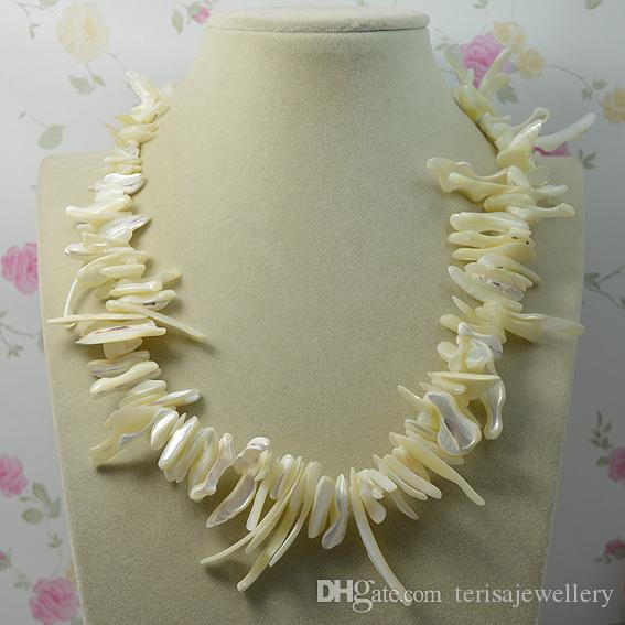 Monili della festa nuziale della signora di modo della collana naturale barrocco di colore bianco della collana, collana del regalo della donna Nuovo trasporto libero