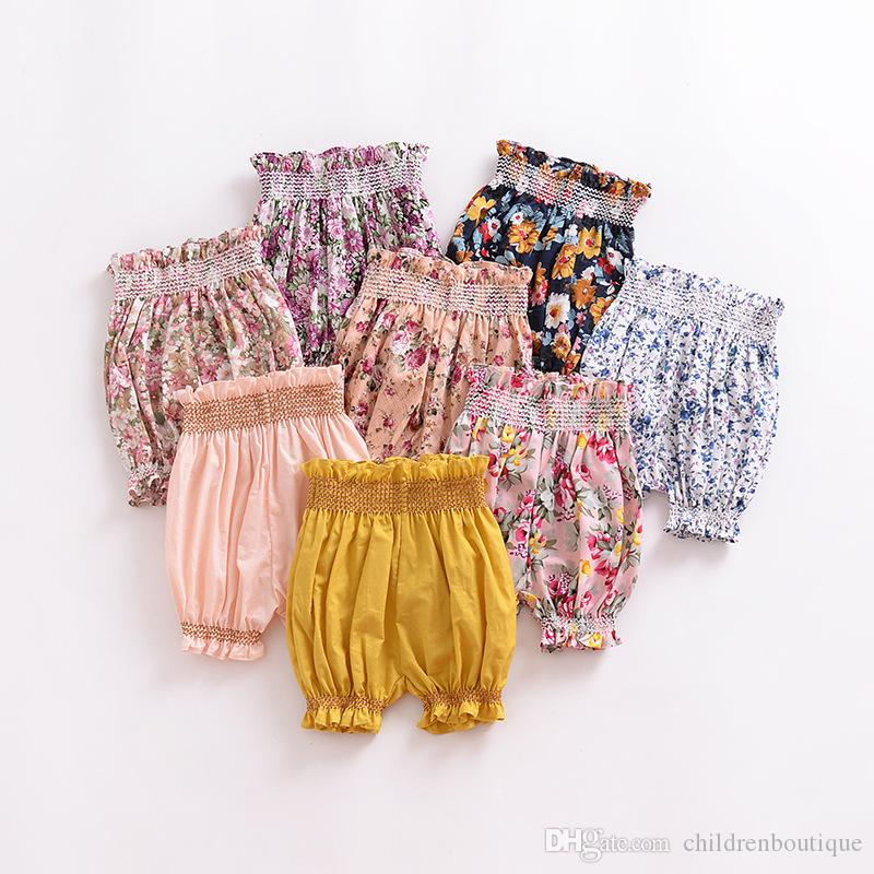 2018 Fashion Children Clothing Kids Pants Toddler Newborn Baby Girls Cute Floral Lantern Print Harem Big PP Pant Trousers Bread Of Pants