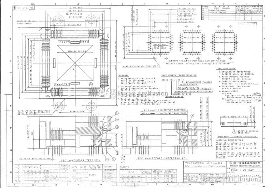 YAMAICHI IC TEST SOCKET IC120-0844-303 PLCC84PIN SIZDIRMAZ 1.27mm PITCH BURN.