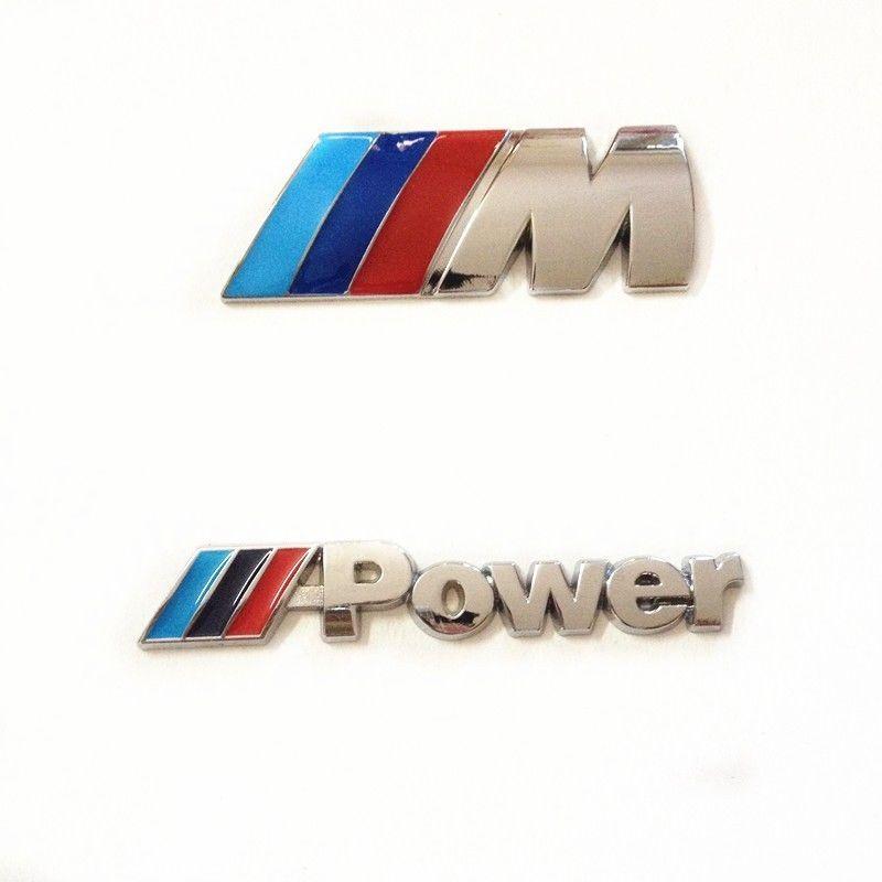 Para BMW /// M + emblema de la energía M etiqueta engomada de la insignia calcomanía auto auto del tronco del metal M-Series