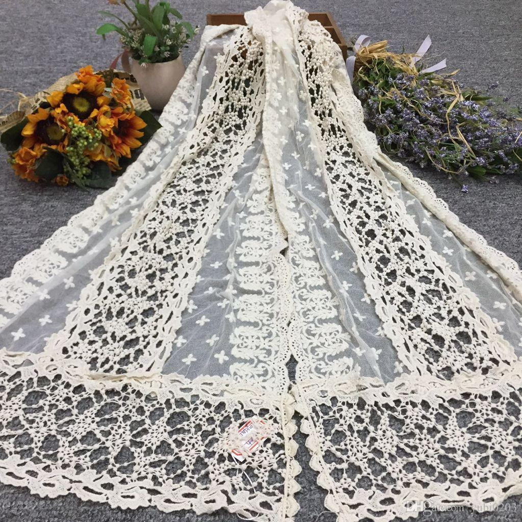 2018 New Spring Summer Scarf Hollow Lace Fashion Warm New Scarf Cotton Women's Scarf Clothing Accessories