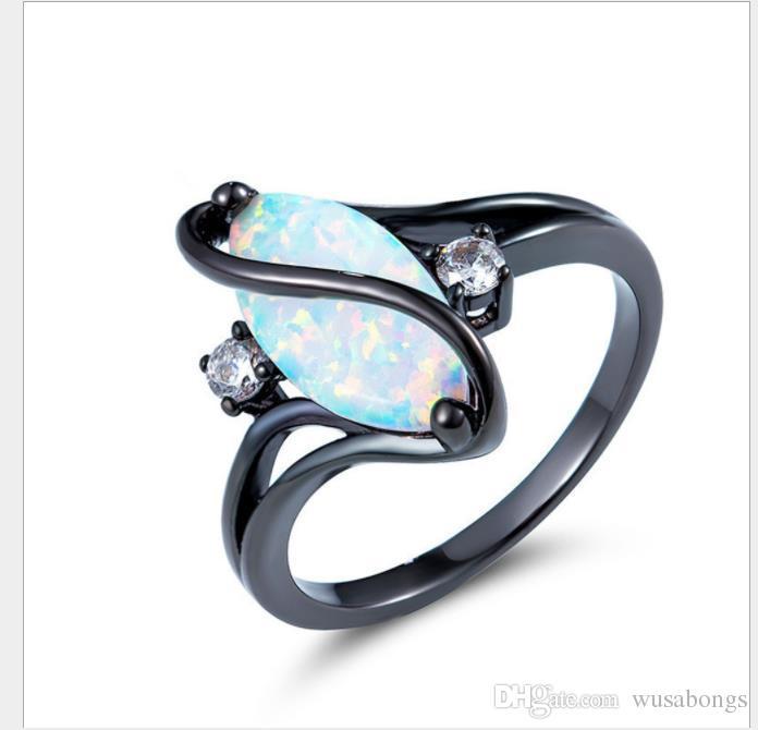 Diamantes S, anillos de ojo de caballo azul dorado negro, accesorios de alta gama europeos y americanos.