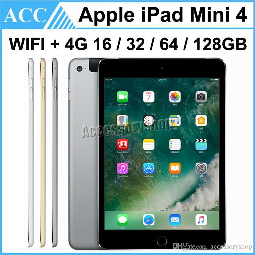 Remodelado Original da Apple iPad Mini 4 WIFI + 4G Celular 16GB 32GB 64GB 128GB 7,9 polegadas Retina Display 1pcs ISO A8 Chipset Tablet PC DHL
