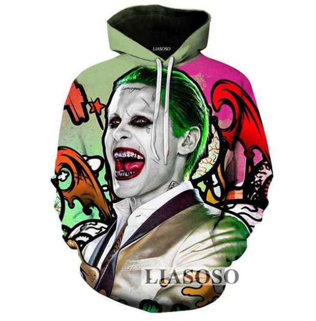3D Print Suicide Squad Joker Harley Quinn Men Women Hoodie Jumper Sweatshirt NEW