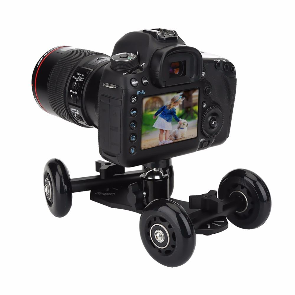 Tabletop Mobile Rolling Slider Dolly Car Skater Video Track Rail Stabilizer for Sports Action/Mirrorless System/DSLR Cameras