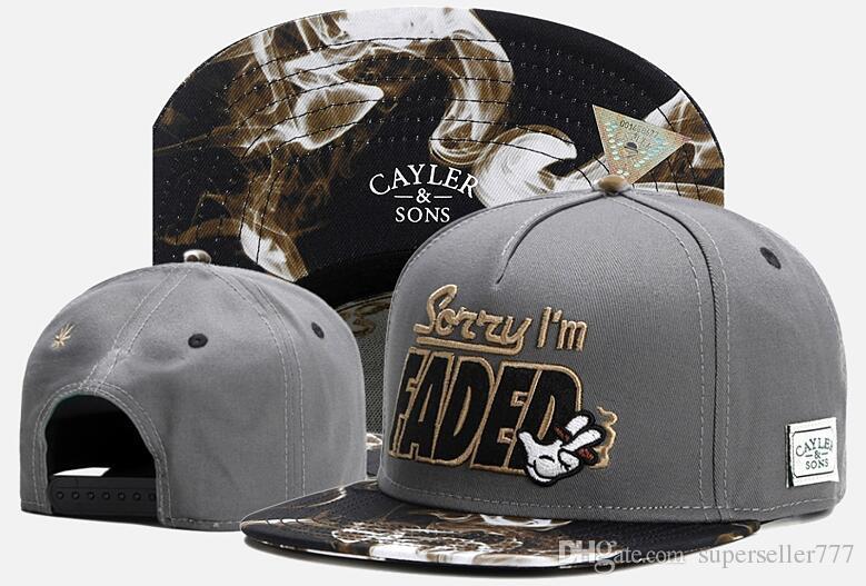 2018 Мода хип CAYLER сыновья Snapback жаль, что я увядший Cap бейсболки,спортивные уличные бейсболки,спортивные открытый головные уборы уличная