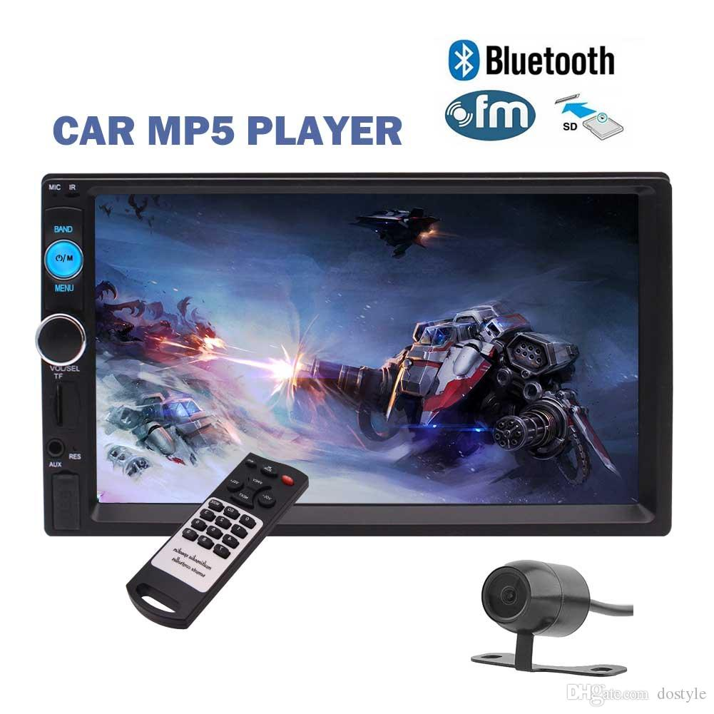 7''Universal 2 Din Car Stereo Receiver Multimedia MP5 Player Head Unit HD Pantalla táctil digital In-Dash Car Headunit Deck FM Radio Audio Video