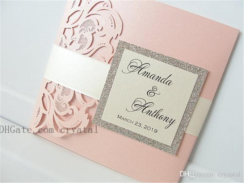 Lasercut Invitation de mariage avec enveloppe et Tag, Laser Cut Pocketfold Invitation de mariage, Pocketfold Inviter, Mariage Dentelle Inviter