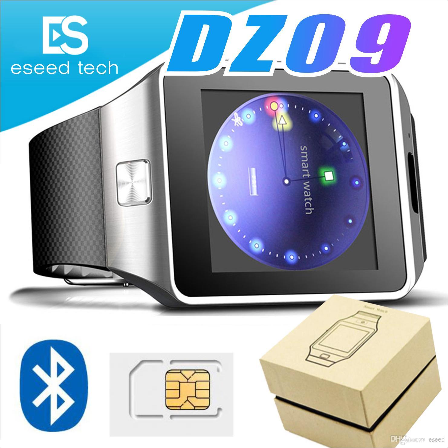 Kamera çevir çağrı cevap pasometre ile Samsung akıllı telefon için android Smartwatch'larda için DZ09 Bluetooth akıllı saat