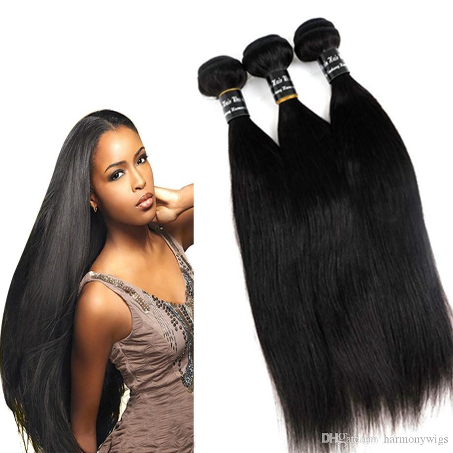 100% Virgin Human Hair Weaves Brazilian Hair Bundles Wefts 8-34inch Straight Unprocessed Peruvian Indian Malaysian Human Hair Extensions