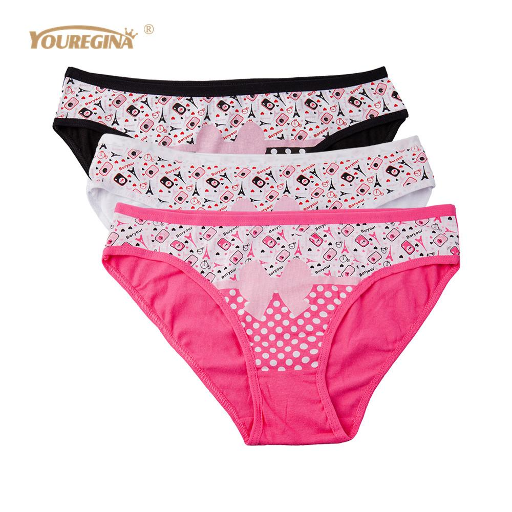 YOUREGINA Woman Panties Cotton Underwear Lingerie Thong Sexy Briefs for Women Ladies Panties Knicker Intimate 3pcs/lot
