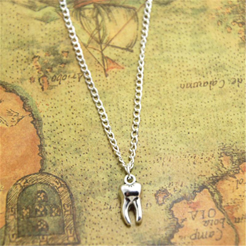 12pcs/lot Tooth Fairy necklace Charm pendant Tooth Fairy Jewelry Dental Gift Dentist