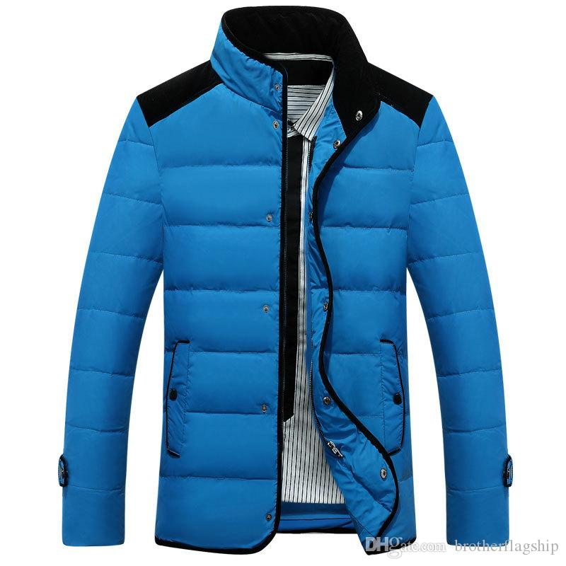 Winter Jacket Men Famous Brand-clothing Down Parka Stand Collar Down Jacket Outwear Casual Outwear Coat