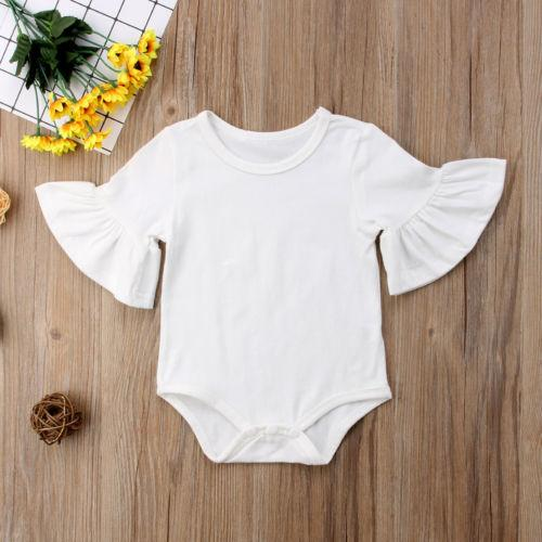 0df0b240e 2019 Cute Newborn Baby Girl Clothes Bodysuits Jumpsuit Short Sleeve Ruffles  Cotton Outfits Sunsuit Clothing Baby Girl 0 24M From Bosiju, $33.51 | ...