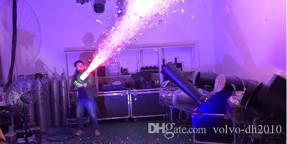رخيصة الثمن العروة led co2 بندقية dj أضواء 3 متر خرطوم led co2 جيت آلة dmx المرحلة تأثير آلة تبادل لاطلاق النار المسافة 6-8 متر llfa