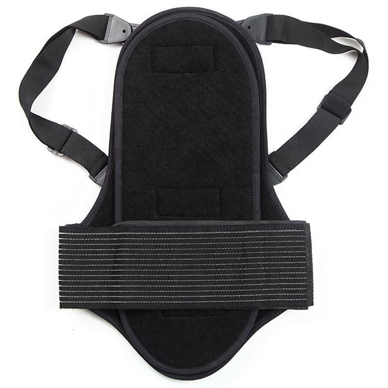 SULAITE extraíble montar cuidado de la espalda motocicleta la protección Carretera de esquí de protección posterior de la columna vertebral Soporte barato codo rodilleras