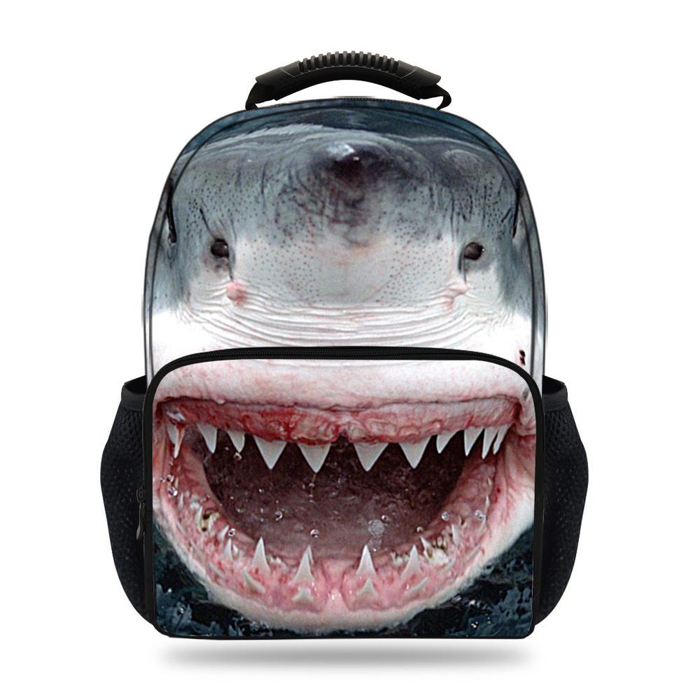15inch Hot Sale Animal Print Bag For Pupil School Bags For Children Boys Girls Shark Felt Backpack For Kids Teenagers
