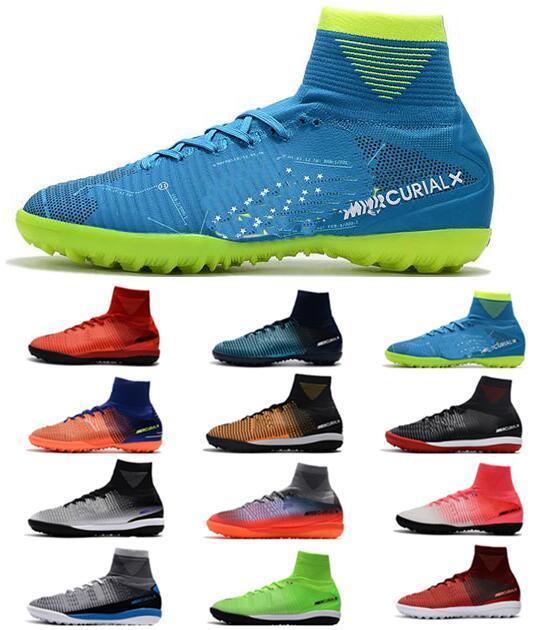 2018 Cheap CR7 Mercurial Superfly V SX Neymar TF Men's Soccer Shoes Magista Obra II Cristiano Ronaldo ACC Footabll Shoes Men Soccer Boots